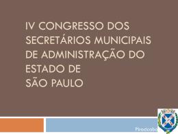 IV Congresso dos secretários municipais de administração do