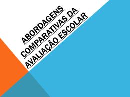 abordagens comparativas da avaliação escolar