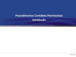 3. A Introdução aos Procedimentos Contábeis Patrimoniais - CRC-ES
