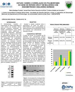 estudo sobre a correlação dos polimorfismos do gene de reparo