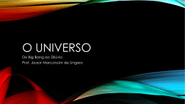 O Universo - Escola Rainha do Brasil