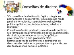 Conselhos de Direitos