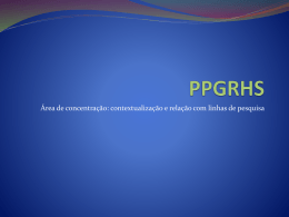 PPGRHS - Universidade Federal de Alagoas