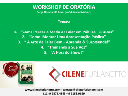 Workshop Oratória - Cilene Furlanetto
