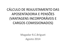 Cálculo de Reajuste - Dra. Magadar Briguet