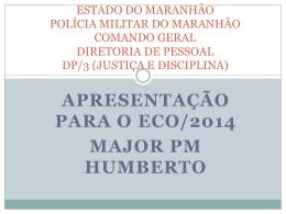 APRESENTAÇÃO DP3 - Polícia Militar do Maranhão.