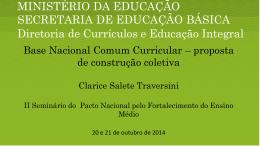 Clarice Salete Traversini / MEC – arquivo Powerpoint