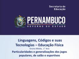 EDUCAÇÃO FÍSICA, 1º Ano do Ensino Médio