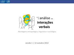 Etnometodologia e Análise das interações verbais