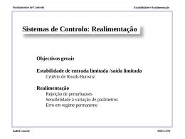 Sistemas de Controlo: Realimentação