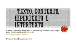 Texto e Contexto - Supletivo São Benedito