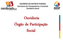 Ouvidoria: órgão de participação social