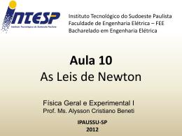 F1 Aula 10 As Leis de Newton