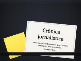 Crônica jornalística Scliar