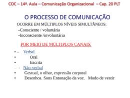 COC - 14a. Aula - Comunicação Organizacional cap 20