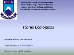 Fatores Ecológicos - Área de Engenharia de Recursos Hídricos