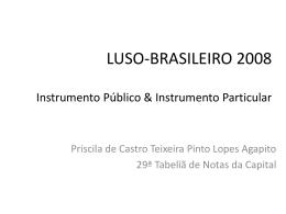 Apresentação III Seminário Luso Brasileiro de Direito