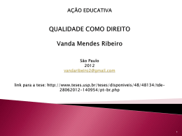Faça – Apresentação Vanda Ribeiro