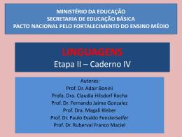 LINGUAGENS Etapa II * Caderno IV