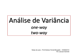 Analise de Variancia