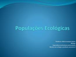 Populações Ecológicas