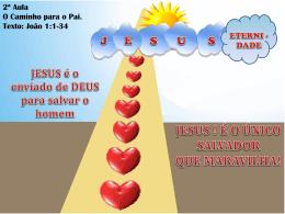JESUS é o enviado de DEUS para salvar o homem