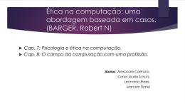 Ética na computação: uma abordagem baseada em casos
