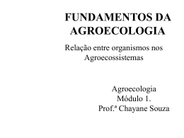 Aula 1. fundamentos em Agro - Docente