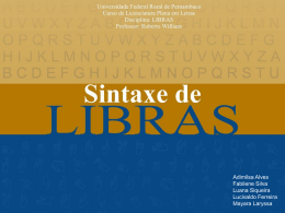 sintaxe da LIBRAS