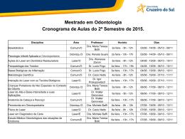 Mestrado - Universidade Cruzeiro do Sul