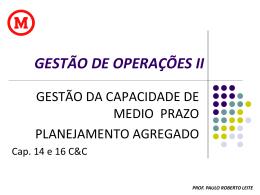 GESTÃO DE OPERAÇÕES II