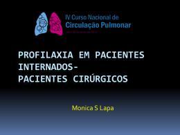 Profilaxia em pacientes internados