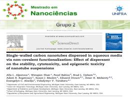 - Grupo 2 Nanotecnologia