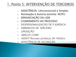 PPoint 5 – INTERVEN TERCEIROS UnB 2015