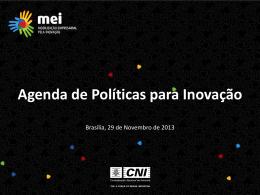 Agenda de Políticas para Inovação