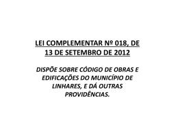 Slide 1 - Prefeitura de Linhares