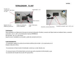 Instrucciones Totalizador Volumétrico