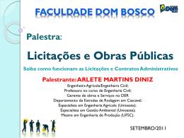 palestra_arlete - Faculdade Dom Bosco