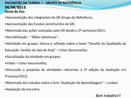 Encontro turma 1 - Grupo de Referência