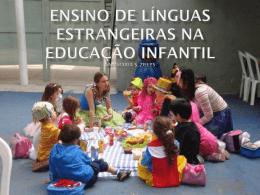 ensino de línguas estrangeiras na educação infantil
