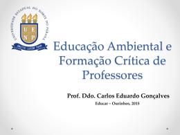 Prof. Ddo. Carlos Eduardo Gonçalves