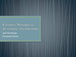 Escritores Portugueses de renome internacional