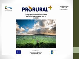 PDR - Programa de Desenvolvimento Rural da RAA 2014-2020
