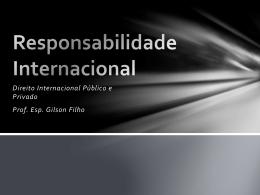 Responsabilidade Internacional