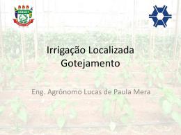 Irrigação Localizada - gotejamento