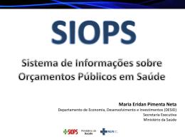 Maria Eridan Pimenta - SIOPS