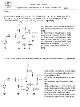 P2 - Turmas 3 e 4 + Gabarito