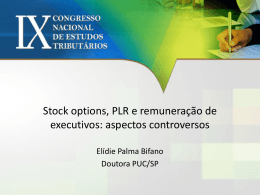 stock option Remunerações de executivos