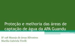 Proteção e melhoria das áreas de captação de água da APA Guandu