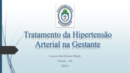 Tratamento da Hipertensção Arterial na Gestante - GO